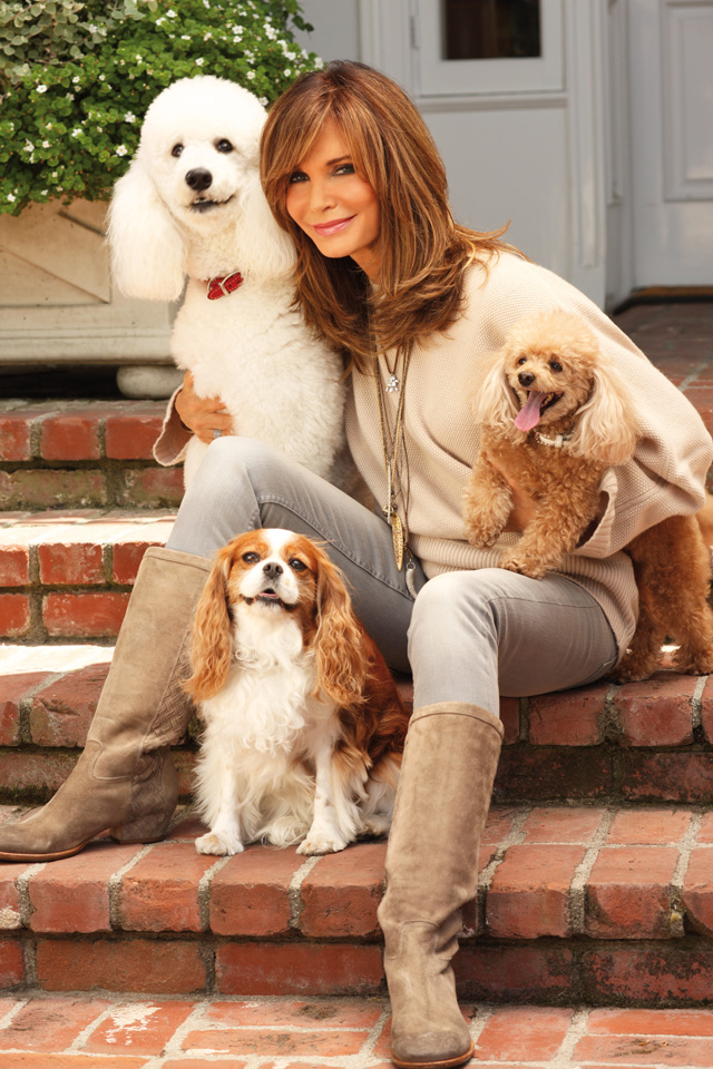 Jaclyn Smith with her dogs