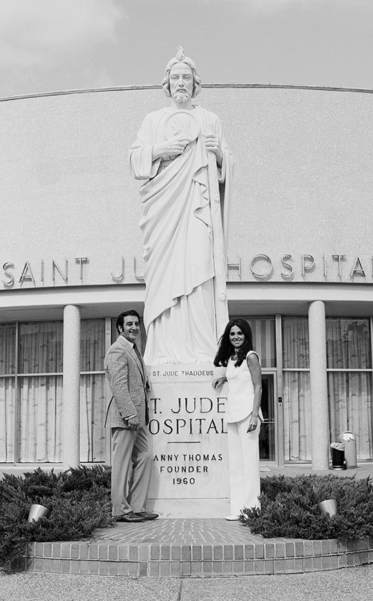 Marlo and Danny Thomas at St. Jude