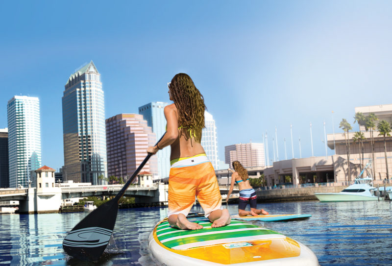 Paddle boarding in Tampa Bay